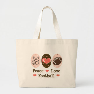 La bolsa de asas de la lona del fútbol del amor de