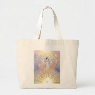 La bolsa de asas de la luz del corazón del ángel