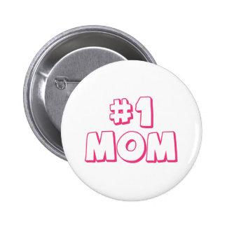 La bolsa de asas de la mamá del número uno de la m pin redondo 5 cm