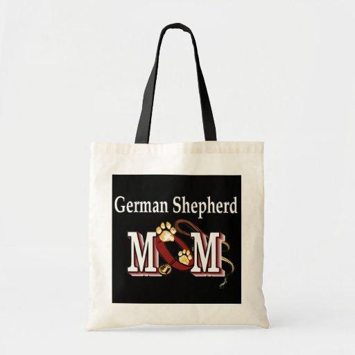 la bolsa de asas de la mamá del pastor alemán