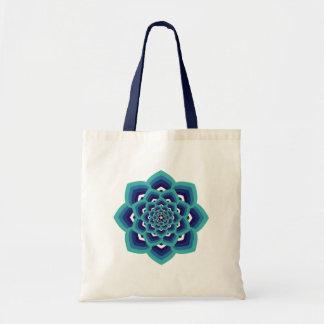 La bolsa de asas de la mandala de Lotus azul