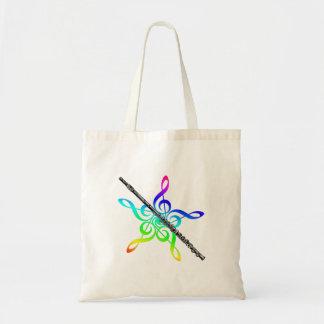 La bolsa de asas de la música de la flauta