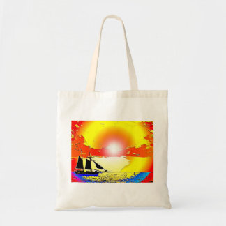 La bolsa de asas de la nave de la puesta del sol