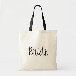 La bolsa de asas de la novia de la escritura de la