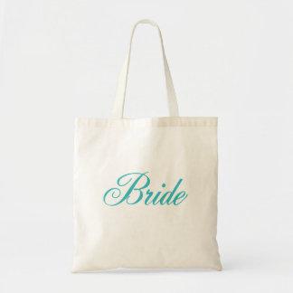 La bolsa de asas de la novia en azul