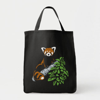 La bolsa de asas de la panda roja