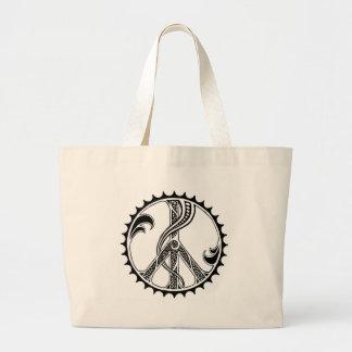 La bolsa de asas de la paz de la bicicleta