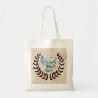 La bolsa de asas de la paz de la paloma del azul