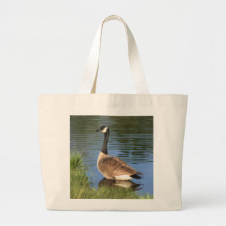 La bolsa de asas de la pintura del ganso de Canadá
