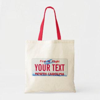 La bolsa de asas de la placa de Carolina del Norte