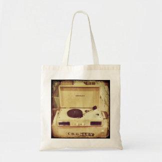 La bolsa de asas de la placa giratoria del vintage