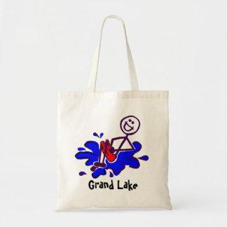 La bolsa de asas de la playa del amante del lago