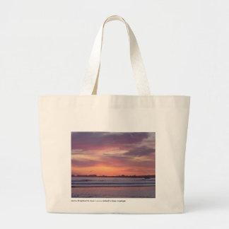 La bolsa de asas de la puesta del sol
