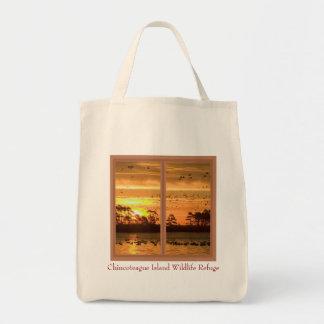 La bolsa de asas de la puesta del sol de la isla