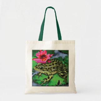 La bolsa de asas de la rana de leopardo