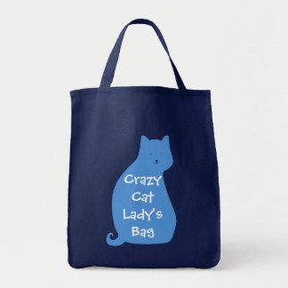 La bolsa de asas de la señora loca del gato