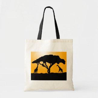 La bolsa de asas de la silueta de la jirafa