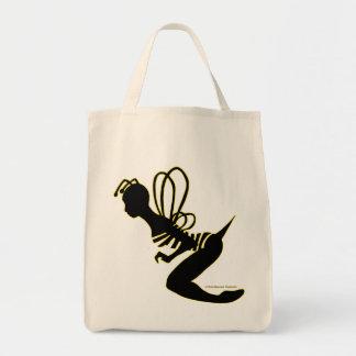 La bolsa de asas de la silueta del chica de la abe