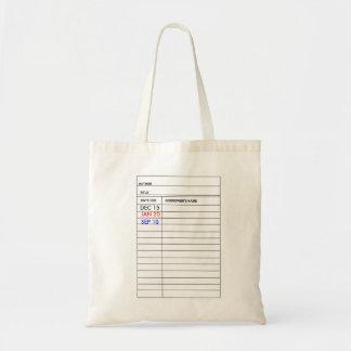 """""""La bolsa de asas de la tarjeta de biblioteca"""""""
