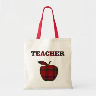La bolsa de asas de la tela escocesa del profesor