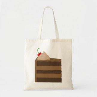 La bolsa de asas de la torta de chocolate