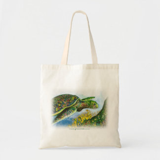 La bolsa de asas de la tortuga de mar verde