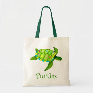 La bolsa de asas de la tortuga verde