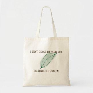 La bolsa de asas de la vida del vegano