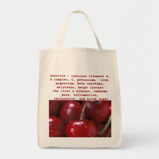La bolsa de asas de las cerezas
