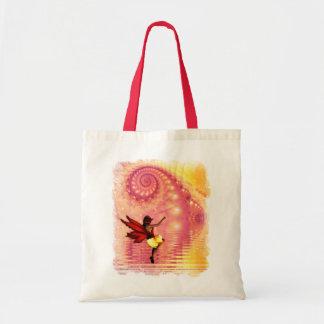 La bolsa de asas de las compras del amanecer del F