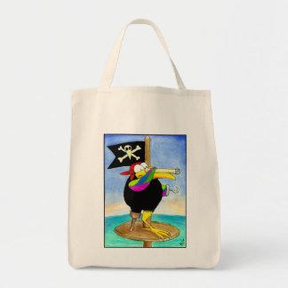 La bolsa de asas de las compras del cuervo del pir