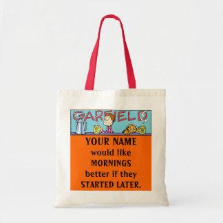 La bolsa de asas de las mañanas de Garfield Logobo