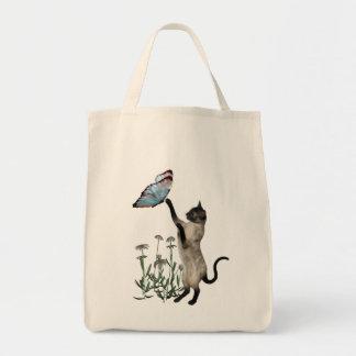 La bolsa de asas de las margaritas de las mariposa