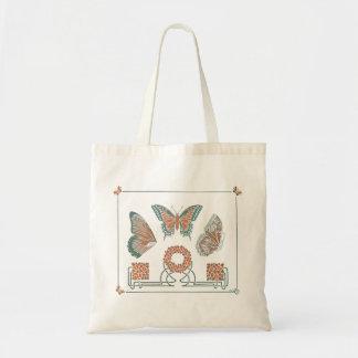 La bolsa de asas de las mariposas de Nouveau del a