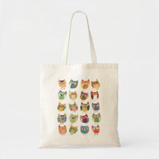 La bolsa de asas de los búhos para los chicas