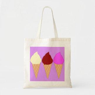 La bolsa de asas de los conos de helado