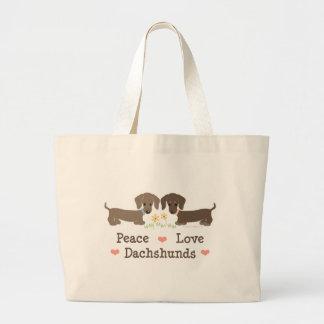 La bolsa de asas de los Dachshunds del amor de la