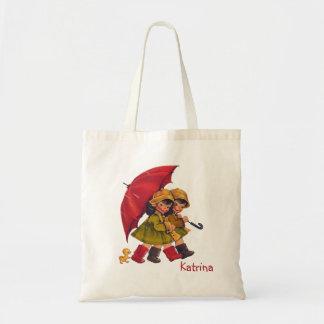 La bolsa de asas de los niños del día lluvioso del