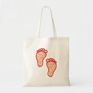 La bolsa de asas de los pies del bebé