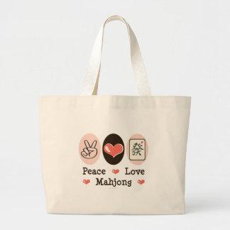 La bolsa de asas de Mahjong del amor de la paz