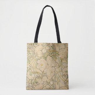La bolsa de asas de Nouveau del arte del estampado