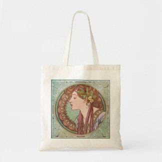 La bolsa de asas de Nouveau del arte del laurel de