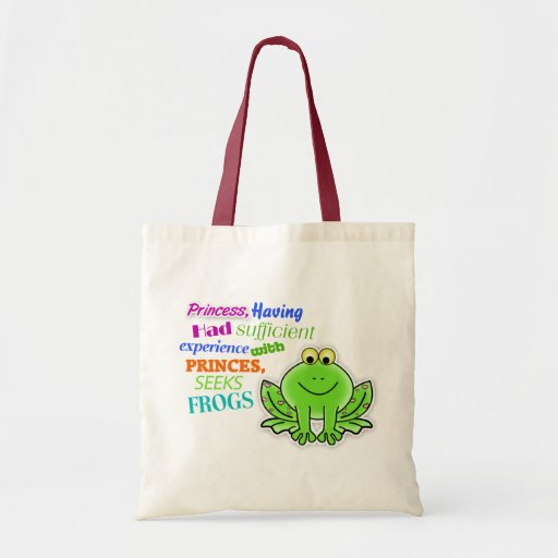 """La bolsa de asas de """"princesa Seeks Frogs"""""""