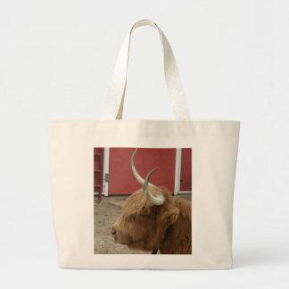 La bolsa de asas de reclinación de la vaca del