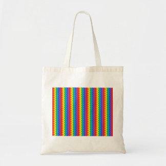 La bolsa de asas de Rickrack del arco iris