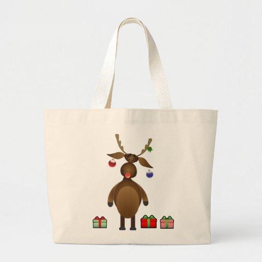 La bolsa de asas de Rudolph del dibujo animado