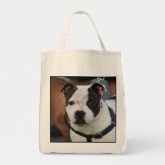 La bolsa de asas de Staffordshire bull terrier