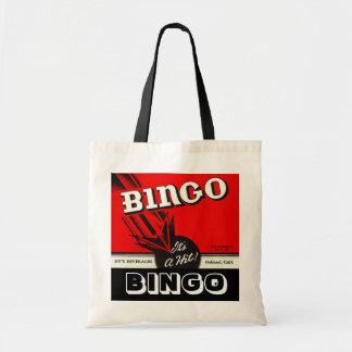 La bolsa de asas de totes retra del bingo del esti