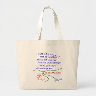 La bolsa de asas del 3:5 &6 de los proverbios