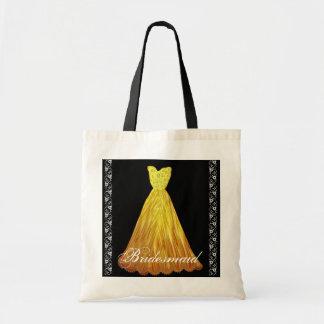 La bolsa de asas del algodón del vestido de la dam